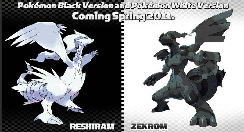 Well, they'll both be gracing the boxart covers of Pokemon Black and White.